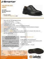 Jallatte Jaloscar JDR01 Safety / Work Black Brogue Shoes